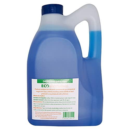 Detergente biodegradable para ropa, Garrafa de 4 Litros. Ideal para ropa blanca o de color.