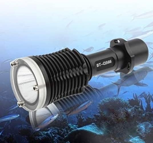 Sandy Cowper Lampe de Poche à Del de 400 m pour plongée, 40 m, Del CREE XPG R5, 1 Mode, Lampe à Del à lumière Blanche Lampe de Poche LED