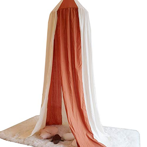 STKASE Children Bed Canopy Round Dome, Bed Canopy, Nursery Room Decorations, Cotton Net Bed Canopies Kids Play Tent for Baby, Height 240cm/94.5in