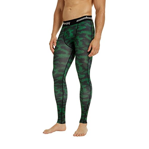 COOLOMG Compression Pants Men's Baselayer Cool Dry Sports Tights Leggings Running for Youth Boy