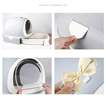 Rory Dissociables De Toilette pour Chat, Plus Grand Espace Litière Tiroir Type Plateau Boîte avec Pelle, Facile À Assembler 52 * 42 * 40Cm,C