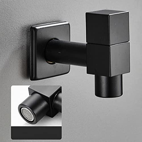 Lavadora negra Faucet Baño de latón Baño Mop Tap Mount Mounted Single Hole Outdoor Water Taps Medificados Grifos