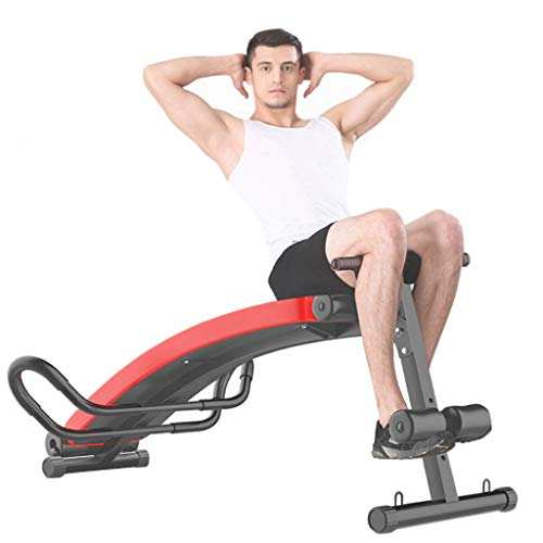 Adjustable Weight Bench, Utility Barbell Lifting Press Exercise Workout Bench for Home Strength Training Multi-Purpose Folding Flat Incline Decline Bench Sit Up Abs Benchs with 2 Fitness Rope