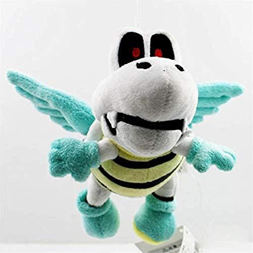DINEGG Juguete de Peluche 18 cm Volando con alas Huesos Secos Tortuga Koopa Suave Peluche Peluche muñecas YMMSTORY