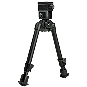 NcSTAR Bipod with Weaver Quick Release Mount/Universal Barrel Adapter Included/Notched Legs Black