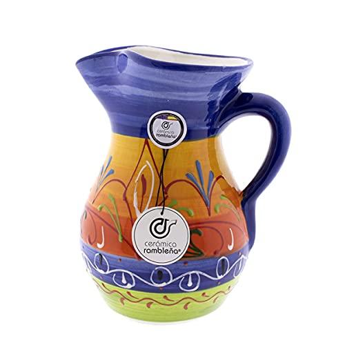 Ceramica Rambilena   Caraffa per acqua   Caraffa per latte   Caraffa in terracotta rossa   Caraffa per succo   Caraffa per acqua modello 07   Decorazione 100% fatta a mano   1,5 litri