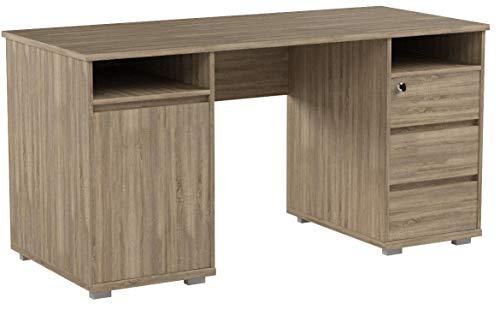 BEGA Primus 2 Schreibtisch | In Sonoma Eiche | 145 x 74 x 65 cm | 39-392-66