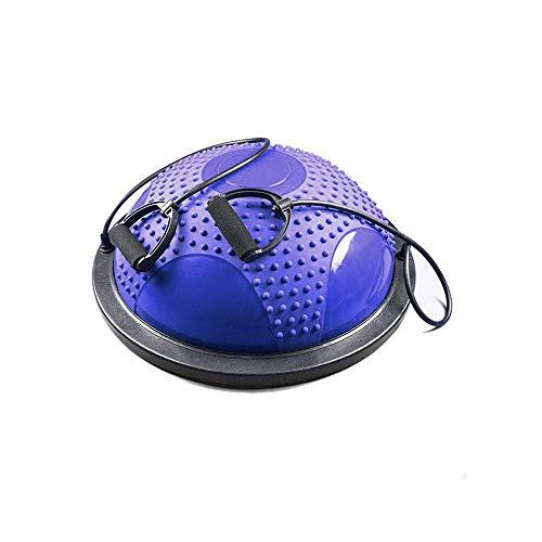 TLV Bola Pelota de Equilibrio Media Esfera Trainer Ball Step, Morado - Negro, Estándar (TLV-Ball-1)