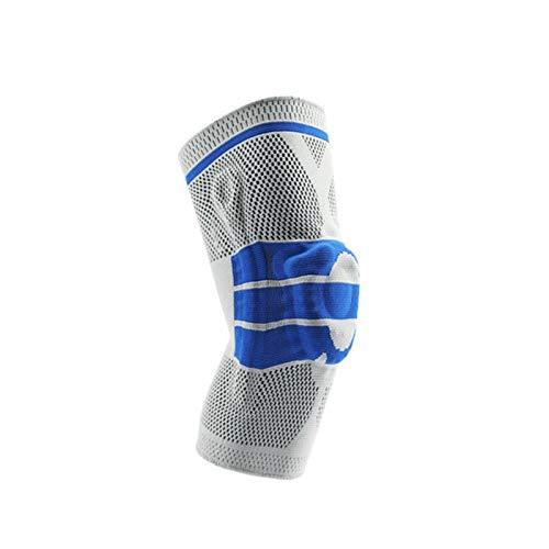 Silicon Padded Basketball Knieschützer Elastische Patella Brace Kneepad Unterstützung Fitness-Geräte-Schutz-Volleyball Tennis (Color : One Piece Blue, Size : M)