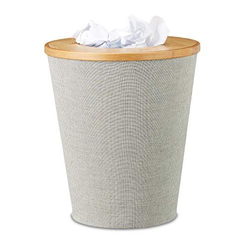 Relaxdays -   Papierkorb Bambus,