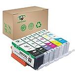 Supricolor PGI-280XXL CLI-281XXL Ink Cartridges, Replacement Ink for PGI 280 XXL CLI 281 XXL 6 Color (1PGBK 1Black 1Cyan 1Magenta 1Yellow 1Photo Blue) Use with PIXMA TS8120 TS8220 TS9120