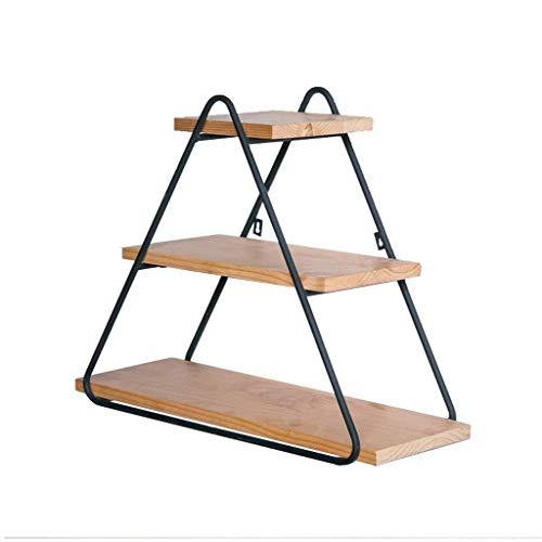 Liefde lamp Multipurpose Plank Driehoek Smeedijzer Display Rack Solid Wood Ledge Restaurant Slaapkamer Wandplank Creatieve Boekenplank Huishoudelijke Items