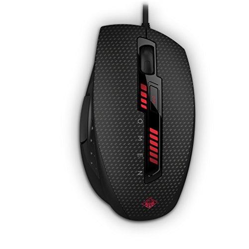 HP - Gaming Omen X9000 J6N88AA ABB Mouse Gaming, 6 Tasti Programmabili, DPI da 400 a 8200, 8 Livelli Regolazione della Sensibilità, Scorrimento e Pressione Tasti Pollici Personalizzabili, Nero