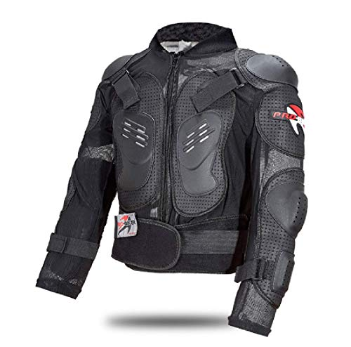 Chaqueta de Moto armadura Completo Motocross Enduro Scooter Protección Cuerpo para Adultos XL Negro