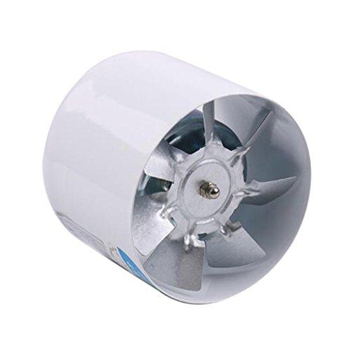MagiDeal 4inch 20W Inline Duct Pipe Booster Ventilador Ventilación Extractor de Aire para Baño Cocina