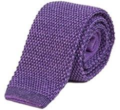 40 Colori - Corbata de punto, mezcla de lana y algodón Arancio ...