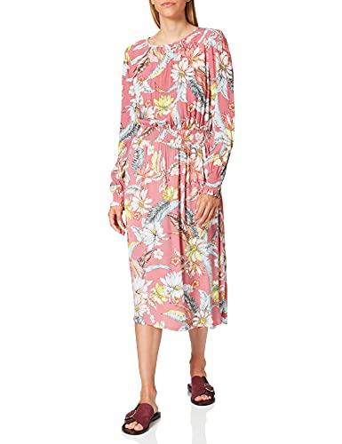edc by ESPRIT Damen 048CC1E028 Kleid, Mehrfarbig (Old Pink 680), 36