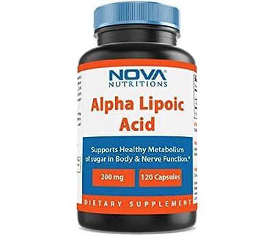 Nova Nutritions Alpha Lipoic Acid 200 mg 120 Capsules