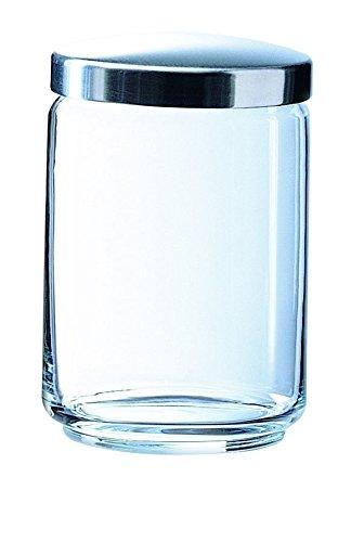 Luminarc 1121612Box Mania Jarra con Tapa (Metal/Cristal Transparente 11x 11x 15cm