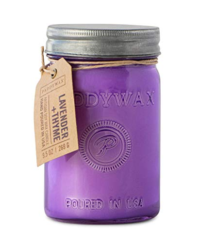 Paddywax Candles RJ806Z Relish Collection Scented Candle, 9.5-Ounce, Lavender + Thyme