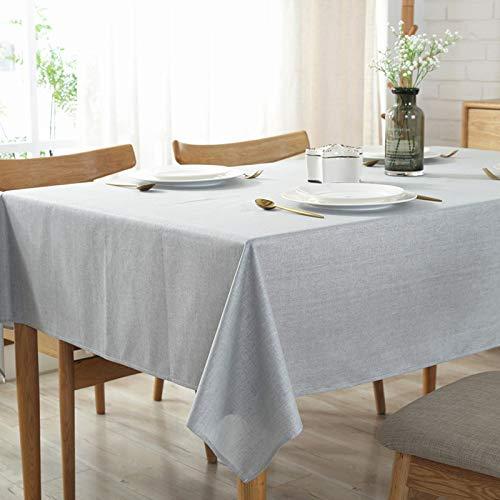 DJUX Mantel de Lino Impermeable de Color sólido hogar Hotel Mantel cafetería Hotel algodón Lino Mantel Cubierta Toalla 135x180cm
