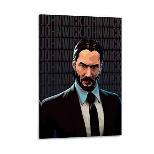 John Wick Poster sur toile avec costume noir 50 x 75 cm