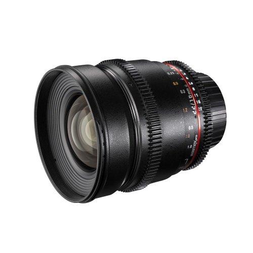 Walimex Pro 16mm 1:2,2 VDSLR Video und Foto Weitwinkelobjektiv für Canon EF-S Objektivbajonett schwarz (manueller Fokus, für APS-C Sensor gerechnet, Filterdurchmesser 77mm)