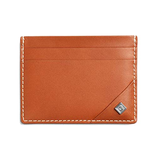 GANT Leather Card Holder One Size Argan Oil