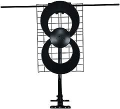 Antennas Direct ClearStream 2V TV Antenna, 60+ Mile Range, UHF/VHF, Multi-directional, Indoor, Attic, Outdoor, Mast w/Pivoting Base/Hardware/ Adjustable Clamp, Sealing Pads, 4K Ready, Black – C2-V-CJM