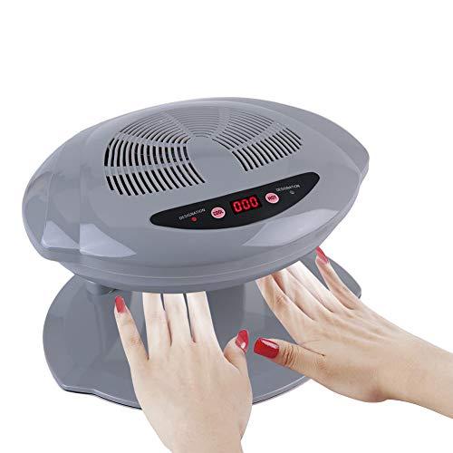 Nail Dryer, Intelligent Sensor Hot & Cold Air Nail Polish Drying Fan Manicure Tool(110V-Silver)
