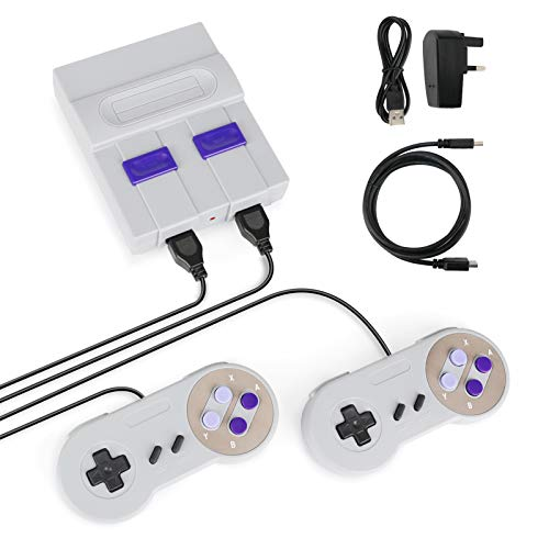 Achort Mini Classic Game Consoles Mini Retro Game Consoles Built-in 821 Games Video Games Handheld Game Player 8-Bit Family TV video Games Console with 2 Controllers AV Output Plug and Play
