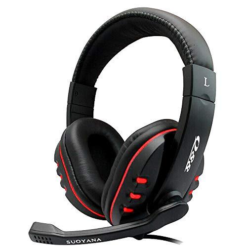 Cloodut Tragen Kopfhörer Kabelgebundene Headsets für Handys Zubehör für Tablets Headsets Gaming Kopfhörer Kopfhörer für PC Musikinstrumente DJ-Equipment Studio-Kopfhörer(BK)