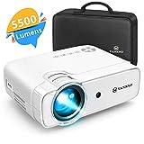 Videoprojecteur, Vankyo 5500 Lumens Retroprojecteur 1280*720P Full HD Soutien 1080P, Mini Vidéo Projecteur Portable Multimédia Cinéma Maison, HDMI/VGA/AV/TF/USB Compatible avec TV Box/PS4/Smartphone