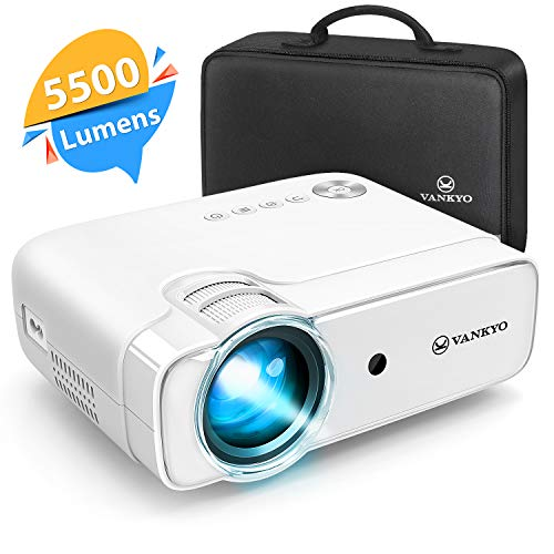 Videoprojecteur, Vankyo 5500 Lumens Retroprojecteur 1280*720P Full HD...