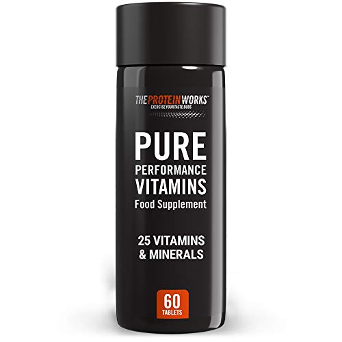 THE PROTEIN WORKS Pure Performance Multivitamin | 25 Key Vitamins and Minerals | Aids Recovery | Supports Immune System and Metabolism | 60 Tablets