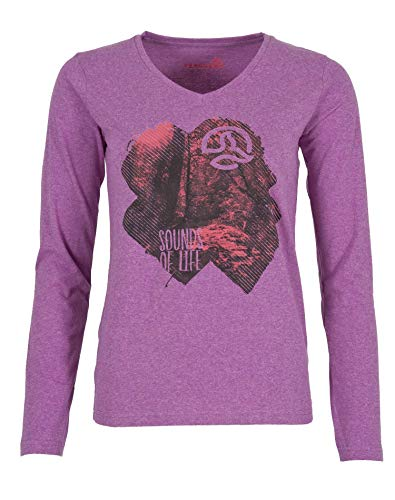 Ternua Camiseta Nuwara LS T-Shirt W Mujer, Radiant Orchid, M