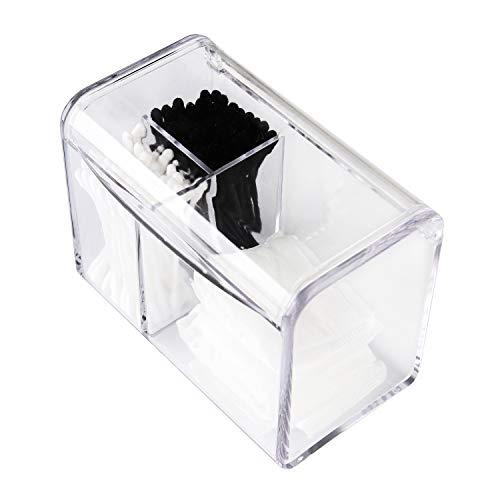Moosy Life AZ35 バスルームアクリル製蓋付き コスメケース、ビューティーコットンアップボックス 、綿棒ケース