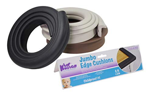 KidKusion Jumbo Edge Cushion, Black