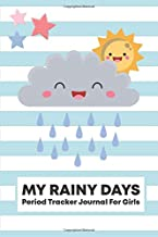 My Rainy Days Period Tracker Journal for Girls: 4 Year Menstrual Cycle Monthly Calendar Log Book for Teens to Record PMS Symptoms