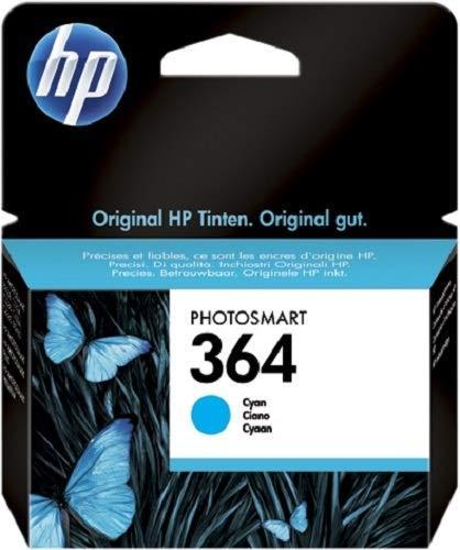 HP 364 CB318EE Cartuccia Originale 300 Pagine, per Stampanti a Getto di Inchiostro HP Photosmart B210c, B110c, B110e, B8550, 7520, Deskjet 3520, 3522, 3524, Ciano
