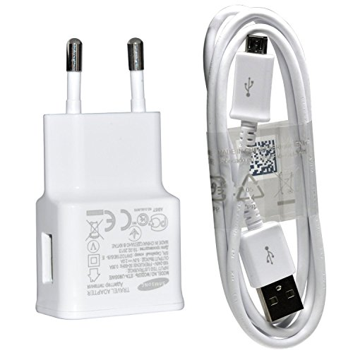 Samsung U90 Original Ladekabel ETA-U90EWEGSTD mit ECBDU4AWE USB 2.0 Datenkabel Netzteil 2000 mAh für SM-G900F Galaxy S5 weiß