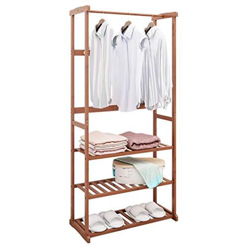 KONGZIR Door Hanger Bedroom Home Creative Clothes Rack Simple Bamboo Hanger Easy