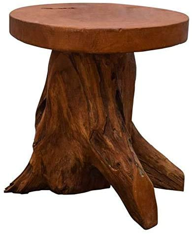 Wooden Bench is Rugged in The Shape of a Tree, Made of Recycled Teak,Wood Color