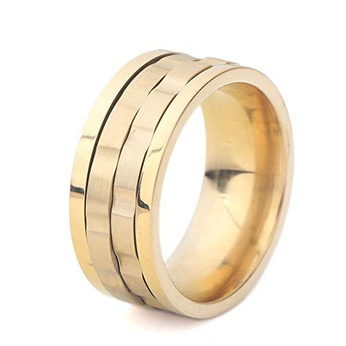 MXH draaibare ring 9 mm heren titanium staal niet-verblekende ring kleurmix