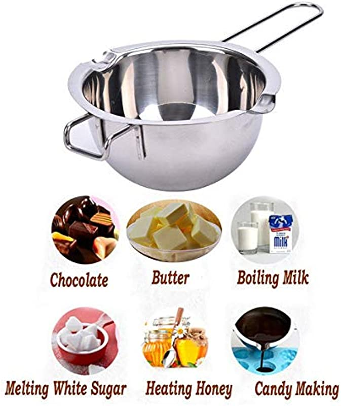 Stainless Steel Double Boiler Melting Pot For Chocolate Butter Candy Candle Making Heat The Milk And Heat The Honey
