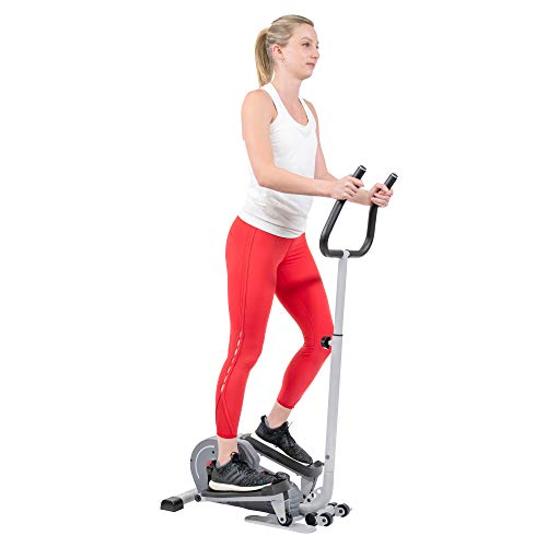 Sunny Health & Fitness Magnetic Standing Elliptical with Handlebars - SF-E3988, Grey
