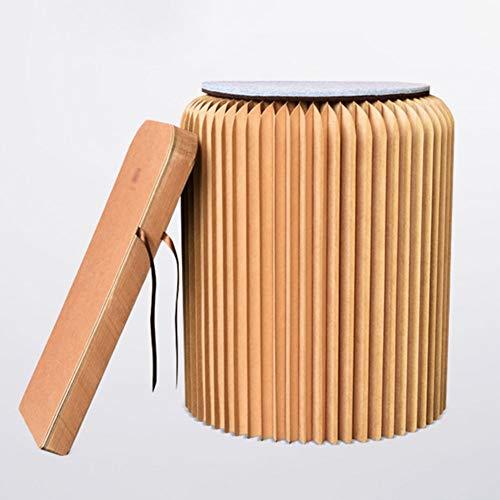 BYPING Faltpapier Hocker,Umweltfreundliches Kraftpapier Faltbar Starke Druckfestigkeit Tragbar Platz Sparen Kann 300 Kg Tragen Draussen Zuhause, 4 Größen (Color : Brown, Size : 32x35cm)