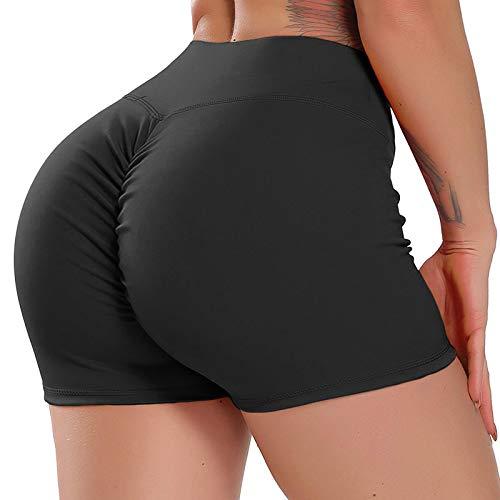 FITTOO Pantalones Cortos Leggings Mujer Mallas Yoga Alta Cintura Elásticos Transpirables #1 Negro M