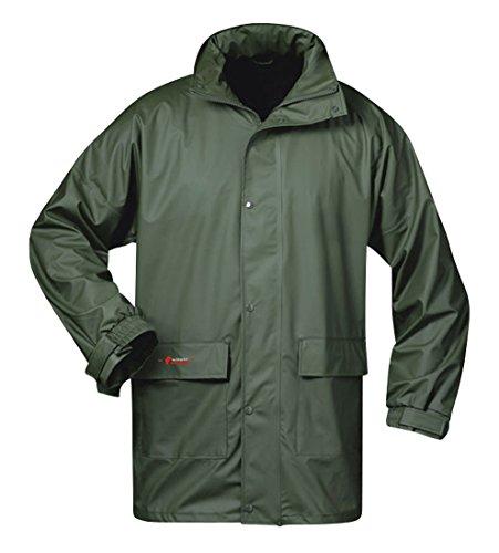Norway PU Regen-Jacke mit Kapuze - Oliv - Größe: 4XL ?