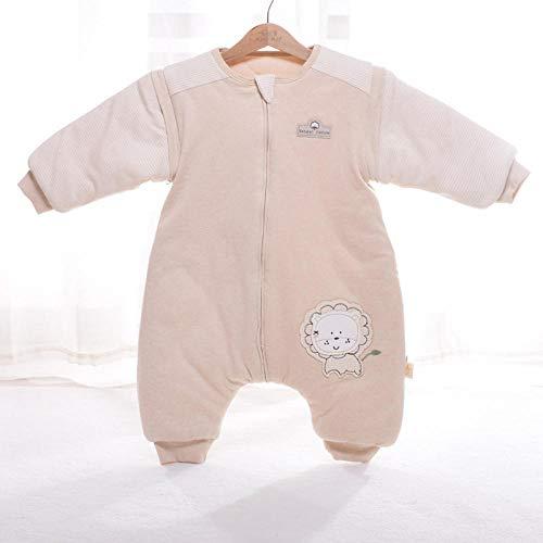 Katoenen mouwloze babyslaapzak, kleurrijke katoenen dikke slaapzak, rompertjes met afneembare mouwen-lion_M 1-3 jaar, slaapzak Baby wikkeldeken